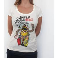 O Ataque Do Terrível Macaco Espacial - Camiseta Clássica Feminina