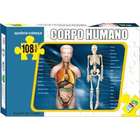 Quebra Cabeça Nig Corpo Humano 108 Peças Multicolorido