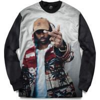 Blusa Bsc Big Sean Full Print - Masculino-Preto