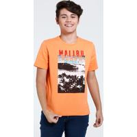 Camiseta Infantil Estampa Praia Marisa