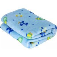 Manta Microfibra Confort Baby Hazime Avião Azul - Kanui