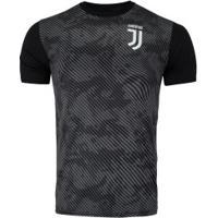 Camiseta Juventus Basic Camuflagem - Masculina - Preto