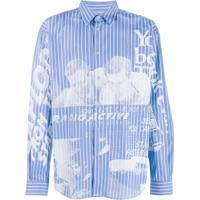 Msgm Camisa Radio Active - Azul