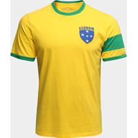 Camiseta Brasil Capitães 1970 Retrô Times Masculina - Masculino
