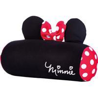 Almofada Rolo Para Berço Minnie Mouse Disney®- Preta & Vfom
