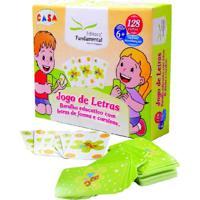 Brinquedo Educativo Jogo De Letras (Baralho Com 128 Cartas Editora Fundamental Azul