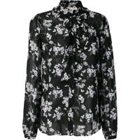 Michael Michael Kors Blusa Com Estampa Floral - Preto