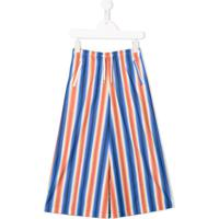 Marni Kids Striped Drawstring Trousers - Laranja
