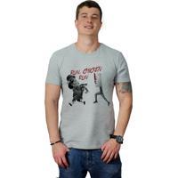 Camiseta Perplex Run, Chicken Run! Cinza