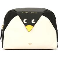 Anya Hindmarch Penguin Travel Pouch - Preto