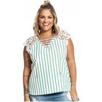 Blusa Feminina Listrada Secret Glam Verde