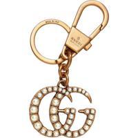 Gucci Chaveiro 'Duplo G' Com Esferas Peroladas - Metálico