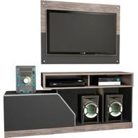 Rack Com Painel Para Tv De Até 46 Polegadas Caemmun Impressão Facility Em Mdp