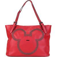 0ed4ca421 ... Bolsa Sacola Gash Shopper Aplique Rebites Mickey Feminina -  Feminino-Vermelho