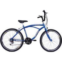 Bicicleta Masculina Aro 26 Com 18 Marchas Beach - Masculino