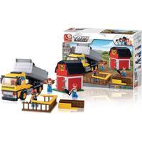 Blocos De Montar Construção Caminhão Com Caçamba 384 Peças Indicado Para +6 Anos Material Plástico Colorido Multikids - Br831 Br831