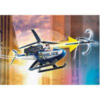 Playmobil - Perseguiçáo Policial Com Helicóptero E Van
