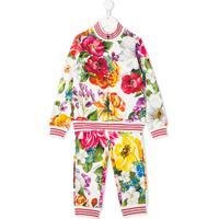 Dolce & Gabbana Kids Conjunto Esportivo Com Estampa Floral - Branco