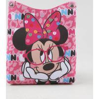 Bolsa Infantil Minnie Estampada Rosa - Único