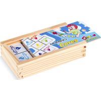 Jogo Educativo Carlu Brinquedos Domino Cores Branco