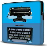 Capa Para Notebook Isoprene Máquina Escrever 15 Polegadas - Unissex-Azul