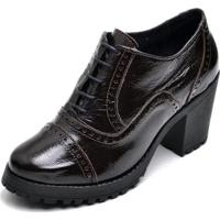 Oxford Top Franca Shoes Feminino - Feminino-Cafe