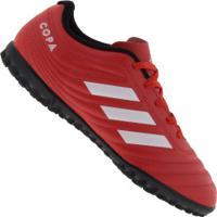 Chuteira Society Adidas Copa 20.4 Tf - Adulto - Vermelho/Branco