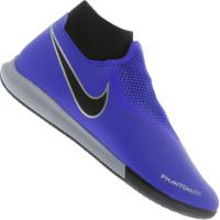 Chuteira Futsal Nike Phantom Vivsn Academy Df Ic - Adulto - Azul/Preto