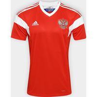 Camisa Seleção Rússia Home 2018 S/N°Torcedor Adidas Masculina - Masculino