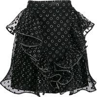 Alberta Ferretti Dotted Mini Skirt - Preto