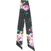 Dolce & Gabbana Lenço Slim Com Estampa Floral - Preto