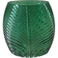 Vaso Folhagem- Verde Escuro- 16X11X8Cm- Full Fitfull Fit