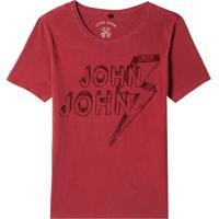 Camiseta John John Pencil Masculina (Red Dahlia, P)