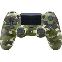 Controle Sony Dualshock 4 Green Camouflage Sem Fio (Com Led Frontal) Ps4