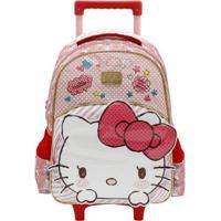 Mochila De Rodinhas Infantil Xeryus Hello Kitty Top Lovely Kitty - Feminino-Rosa