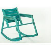 Cadeira De Balanço - Poltrona Para Varanda Janis Stain Azul - 60X92X80 Cm