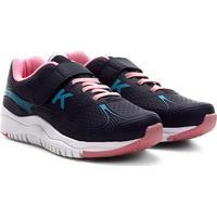 Tênis Infantil Kidy Speed Velcro Feminino - Feminino-Marinho+Pink