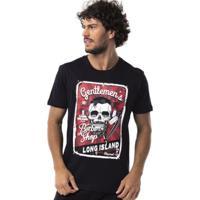 Camiseta Long Island Shop - Masculino-Preto