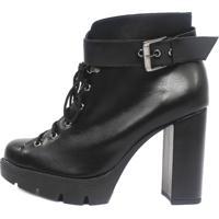 Bota Damannu Shoes Lilly Napa Preto - Preto - Feminino - Dafiti