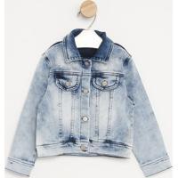 Jaqueta Jeans Estonada- Azul Claro- Pequena Maniapequena Mania