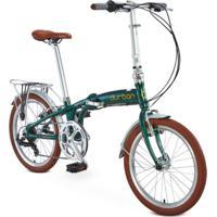 Bicicleta Verde Dobrável 6 Marchas Sampa Pro Durban