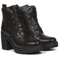 Bota Montaria Feminina Sw Shoes Cano Curto Marrom
