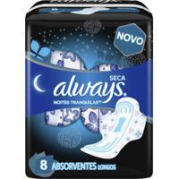 Absorvente Always Noturno Malha Seca Com Abas 8 Unidades