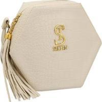 Bolsa Box Selten Estrela Lateral Feminina - Feminino-Creme