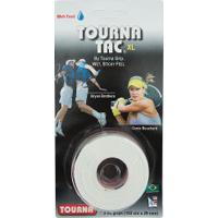 Overgrip Unique Tourna Tac Xl - 3 Unidades - Branco
