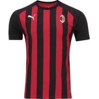 Camiseta Milan Match Fan 18 19 Puma - Masculina - Vermelho Preto bc09a7eef4a45
