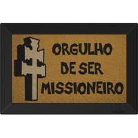 Tapete Capacho Orgulho De Ser Missioneiro Ouro