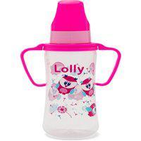 Mamadeira Zoo Com Alça Lolly Baby Rosa
