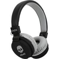 Headset Skull- Preto & Cinza Claro- 25X20X6Cm- Pnewex