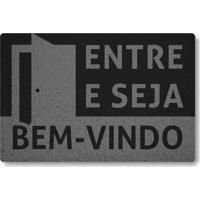 Tapete Capacho Entre E Seja Bem-Vindo - Preto